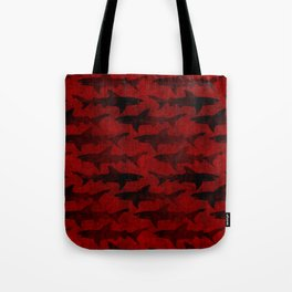 Blood Red Sharks Tote Bag