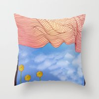 window Throw Pillows featuring Window by Brontosaurus