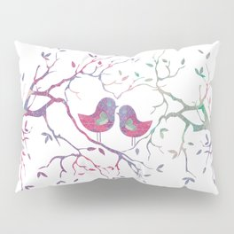 Birds Perched in Tree Pillow Sham