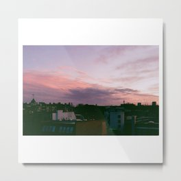 Violet Skies, London // Film Photography Metal Print