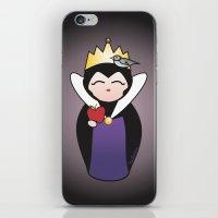 evil queen iPhone & iPod Skins featuring Evil Queen kokeshi by Pendientera