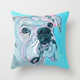 Bella the White Boxer Girl Throw Pillow