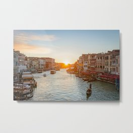 SUNSET OVER VENICE - ITALY EUROPE CITYSCAPE PHOTOGRAPHY PRINT Metal Print