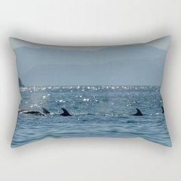 Baja Dolphins Rectangular Pillow