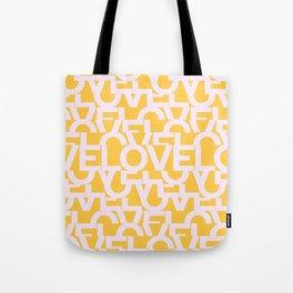 Hidden yellow LOVE message Tote Bag