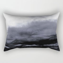 WHITE & BLUE & BLACK TOUCHING #2 #abstract #decor #art #society6 Rectangular Pillow