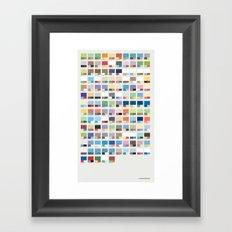 Poke-Pantone 3 (Hoenn Region) Framed Art Print