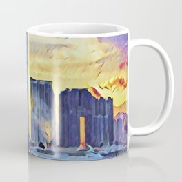 Hong Kong International Commerce Centre Artistic Illustration Epic Light Style Coffee Mug