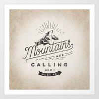 mountains Art Prints featuring Mountains by Seaside Spirit
