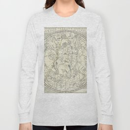Southern Celestial Planisphere Long Sleeve T-shirt