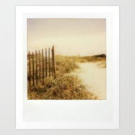 Florida Beaches - Polaroid Art Print