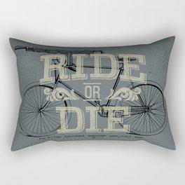 Ride Or Die Bicycle Print Rectangular Pillow