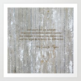 SERENITY PRAYER: BROWN BARN Art Print