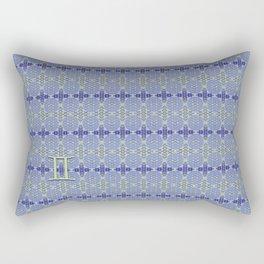 Gemini Flower of Life Astrology Pattern by Debra Cortese Rectangular Pillow