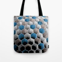 honeycomb Tote Bags featuring Honeycomb by amanvel