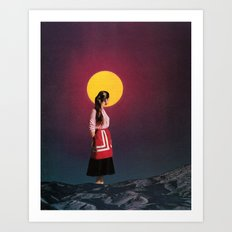 GOLDEN MOON Art Print
