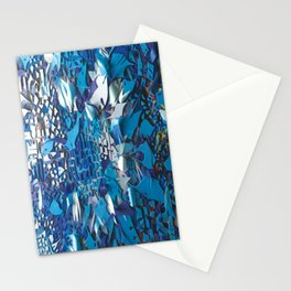 Frost- Abstract Floral Mosaic Collage Stationery Cards