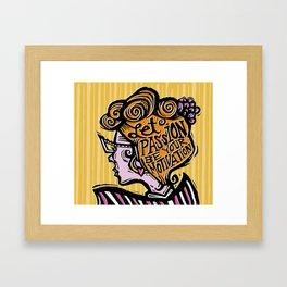 Let Passion Be Your Motivation Framed Art Print