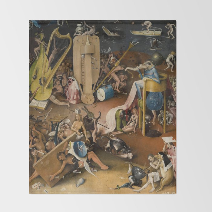 ae9b381b859 Visions of Hell by Heironymus Bosch Throw Blanket by viktoriusart ...