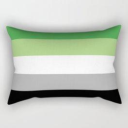Aromantic Flag  Rectangular Pillow