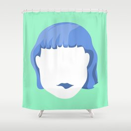 EMPTY FACES #1 Shower Curtain