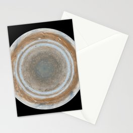 888. Cassini Best Maps of Jupiter North Polar Map Stationery Cards