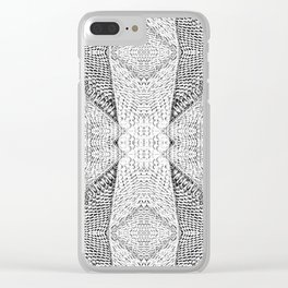 Snake White Clear iPhone Case