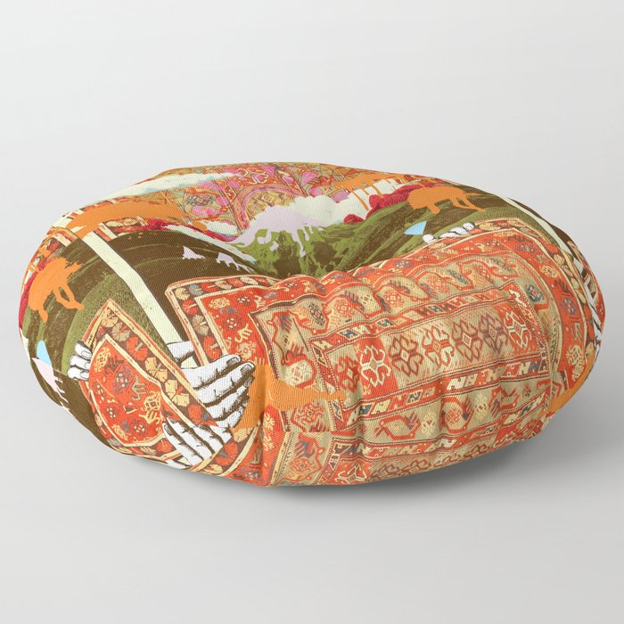 MORNING PSYCHEDELIA Floor Pillow