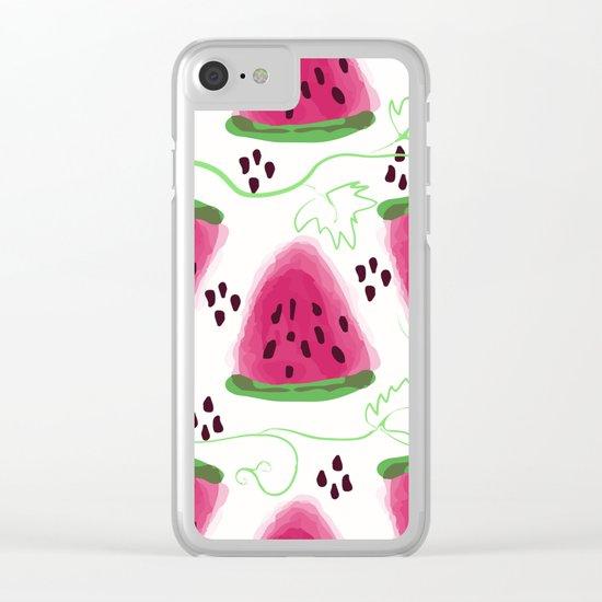 Watermelon pattern. Clear iPhone Case