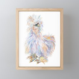 Silkie Chicken - Toto Framed Mini Art Print