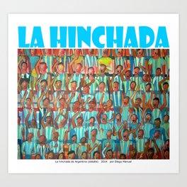 La hinchada  por Diego Manuel  Art Print