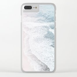 Vintage Faded ocean waves Clear iPhone Case