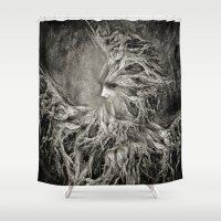 greek Shower Curtains featuring Greek goddess Gaia. by Viviana Gonzalez