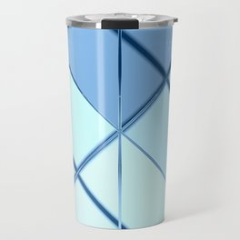 Mosaic tiled glass with black rays Travel Mug