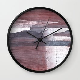 Gray claret wash drawing design Wall Clock