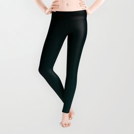 Black and Dark Teal Gradient Leggings