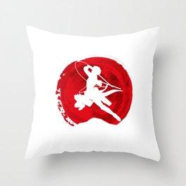 Red Levi akerman Throw Pillow