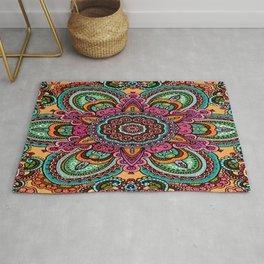 Mandala Flower Design Rug