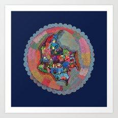 Colombia Azul Art Print