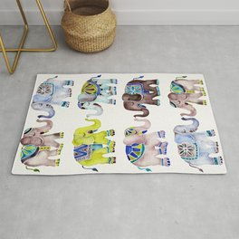 Elephant Collection – Cool Palette Rug