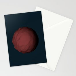 Planet Mars Low Poly Stationery Cards