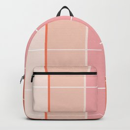 Peach + Gradient Grid Backpack