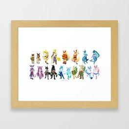 Eeveelutions Concept Art Framed Art Print