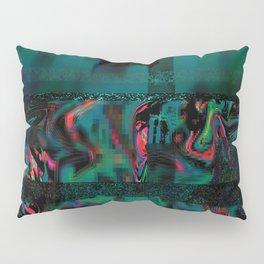 Flora Celeste Jade Glitch Pillow Sham