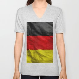 German Flag Unisex V-Neck