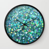 under the sea Wall Clocks featuring Under the Sea... by Lisa Argyropoulos