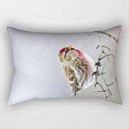 Winter Redpoll Bird Rectangular Pillow