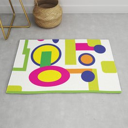 Bubble Mood in a bath of colorful geometry  Rug