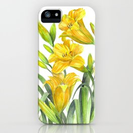 Yellow Day Lillies iPhone Case