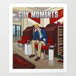 Shoe shopping Art Print